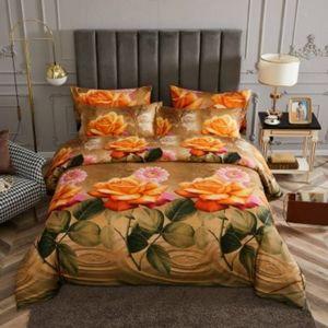 Dolce Mela 6 Piece Luxury Floral Bedding Duvet